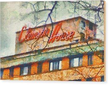 Clemson House Wood Print
