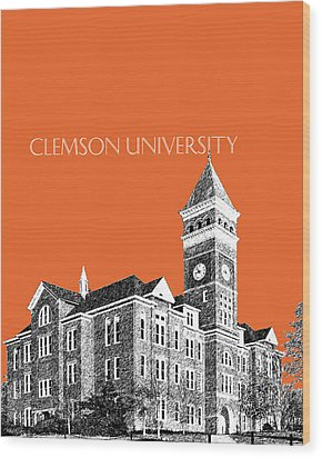 Clemson University - Coral Wood Print by DB Artist