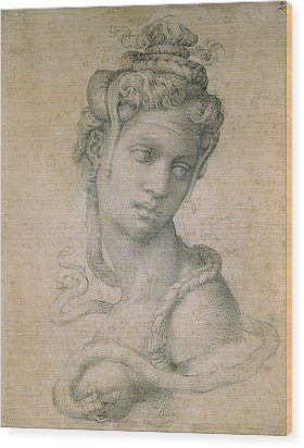 Cleopatra Wood Print by Michelangelo