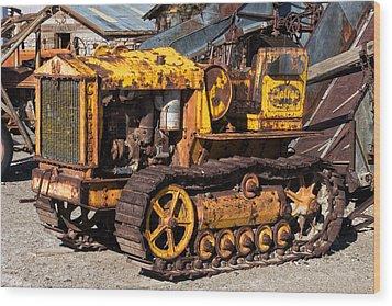Cletrac 20k Wood Print by Kathleen Bishop