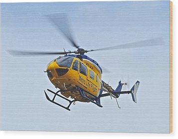 Cleveland Metro Life Flight Wood Print by Frozen in Time Fine Art Photography