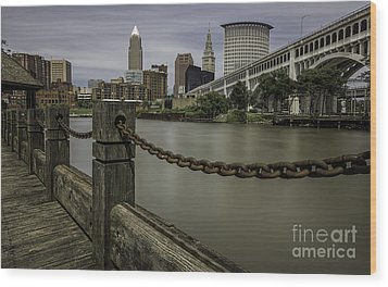 Cleveland Ohio Wood Print by James Dean