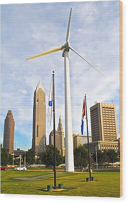 Cleveland Ohio Science Center Wood Print by Frozen in Time Fine Art Photography