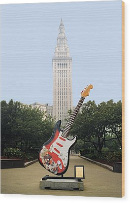 Wood Print featuring the photograph Cleveland Rocks by Terri Harper