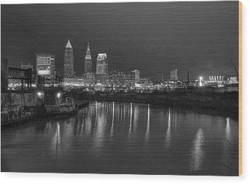 Cleveland Skyline  Wood Print