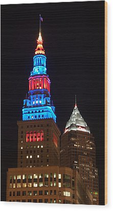 Cleveland Towers Wood Print by Dale Kincaid