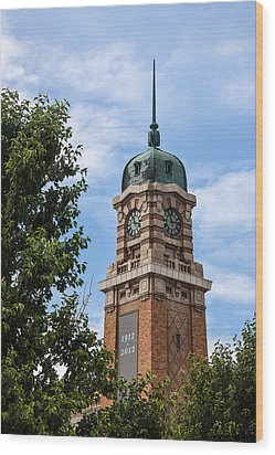 Cleveland West Side Market Tower Wood Print by Dale Kincaid