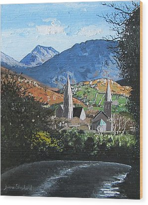 Clifden Town Connemara Co Galway Ireland Wood Print