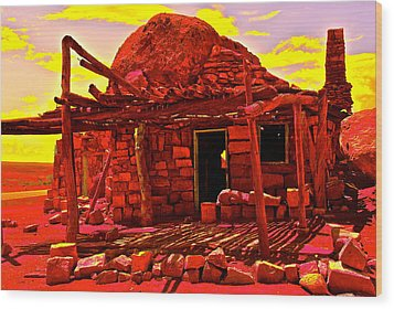 Cliff Dwellers In Red Wood Print