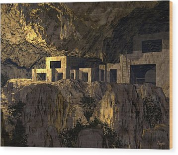 Cliff Dwellers Wood Print