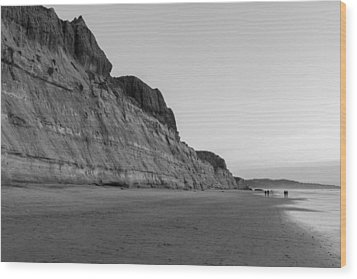 Wood Print featuring the photograph Cliffs At Torrey Pines Beach by Scott Rackers