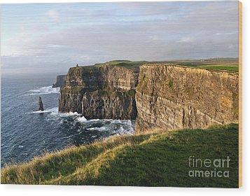 Cliffs Of Moher Evening Light Wood Print