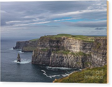 Wood Print featuring the photograph Cliffs Of Moher I by Juergen Klust