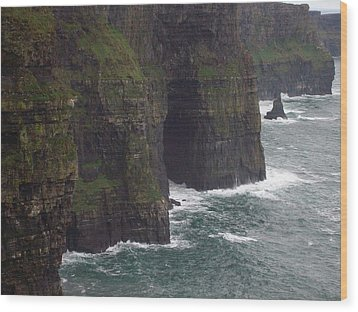 Wood Print featuring the photograph Cliffs Of Moher Ireland by Alan Lakin