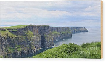 Cliffs Of Moher Panorama 3 Wood Print