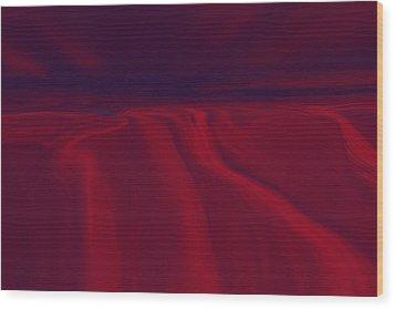 Cliffs Wood Print by Tim Stringer