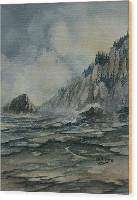 Cliffside Wood Print