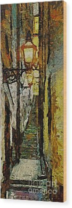 Climbing Stairs Of Paris Wood Print by Dragica  Micki Fortuna