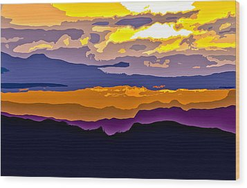 Wood Print featuring the photograph Clingman's Sunrise Cut by David Stine