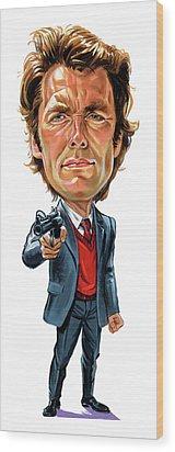 Clint Eastwood As Harry Callahan Wood Print by Art