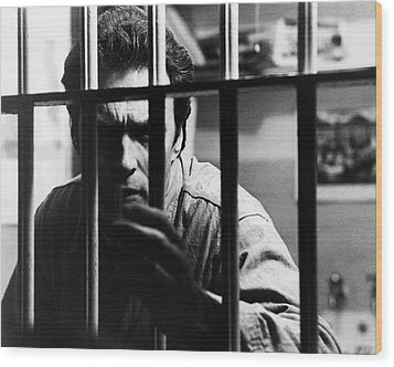 Clint Eastwood In Escape From Alcatraz  Wood Print by Silver Screen