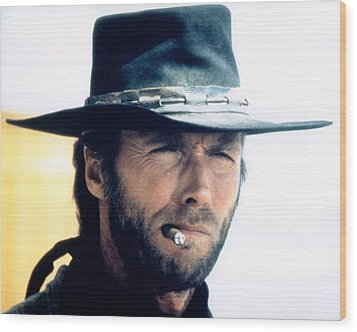 Clint Eastwood In High Plains Drifter  Wood Print by Silver Screen
