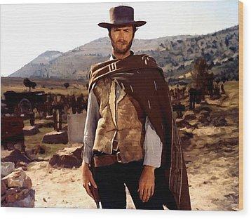 Clint Eastwood Outlaw Wood Print