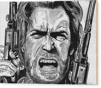 Clint Eastwood Wood Print by Ralph Harlow
