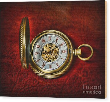 Clock - The Pocket Watch Wood Print by Paul Ward