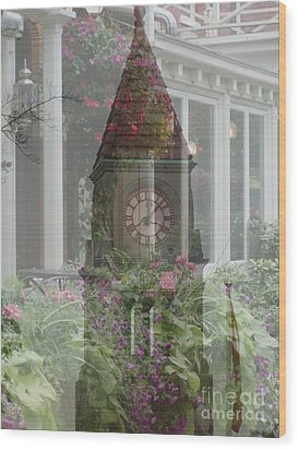 Clock Tower Wood Print by George Mount