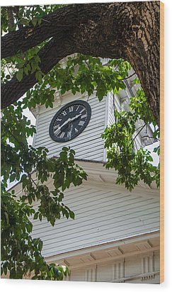 Clock Tower Wood Print