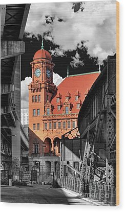 Clock Tower Wood Print by Tim Wilson