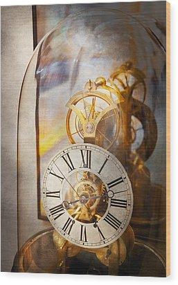 Clockmaker - A Look Back In Time Wood Print by Mike Savad