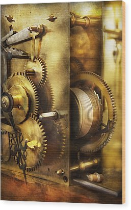 Clockmaker - We All Mesh Wood Print by Mike Savad