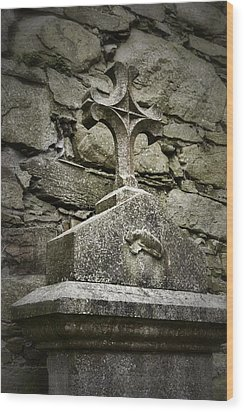 Cloister Cross At Jerpoint Abbey Wood Print