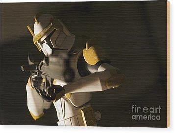 Clone Trooper 1 Wood Print by Micah May