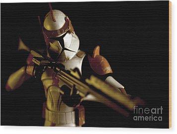 Clone Trooper 2 Wood Print by Micah May