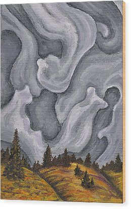 Close Down Wood Print by Logan Hoyt Davis