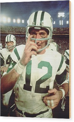Joe Namath  Wood Print by Retro Images Archive