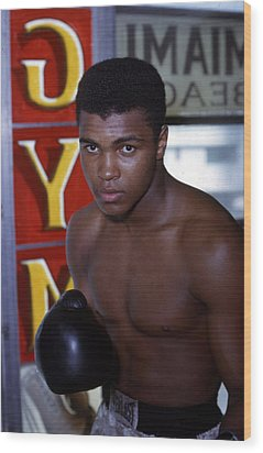 Close Up Of Muhammad Ali Wood Print by Retro Images Archive