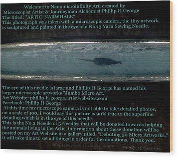 Close-up Photo No.1 Showcasing Polar Bear Needle No.2  Wood Print by Phillip H George