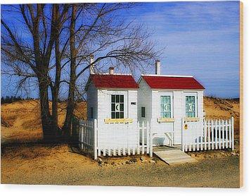 Closed For The Season Wood Print by Randy Pollard
