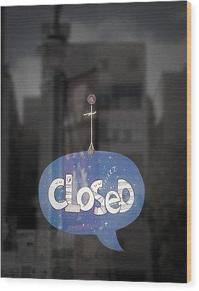 Closed Sleep Tight Wood Print by Scott Norris