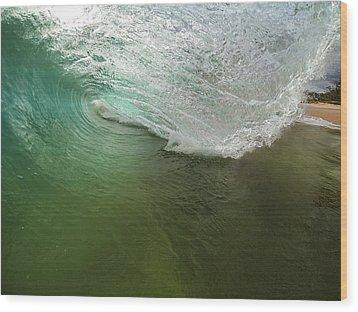 Closeout Wave Wood Print by Brad Scott