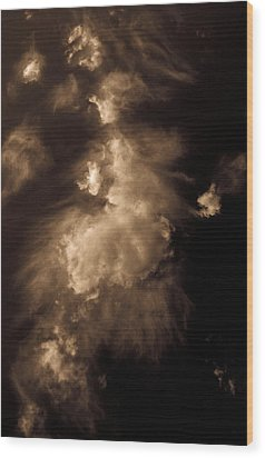 Cloud Apparition Wood Print by Christy Usilton