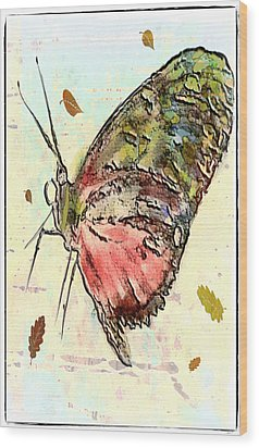 Cloud Butterfly Wood Print by Jill Balsam