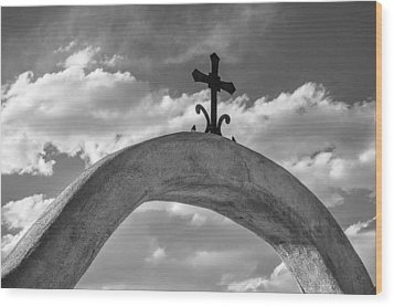 Cloud Cross Wood Print