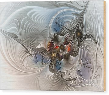 Cloud Cuckoo Land-fractal Art Wood Print by Karin Kuhlmann