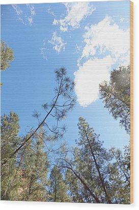 Cloud Dancing Wood Print by Amy Drago