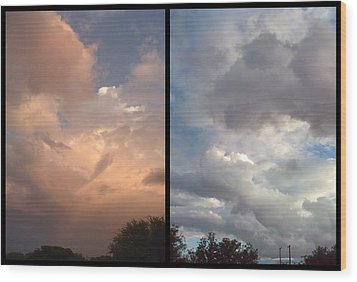 Cloud Diptych Wood Print by James W Johnson